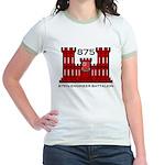 875th Engineer Battalion - Army Jr. Ringer T-Shirt