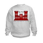 875th Engineer Battalion - Army Kids Sweatshirt