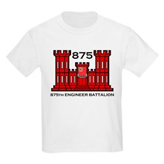 875th Engineer Battalion - Army Kids T-Shirt