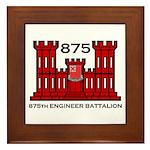 875th Engineer Battalion - Army Framed Tile
