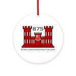 875th Engineer Battalion - Army Ornament (Round)