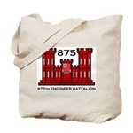 875th Engineer Battalion - Army Tote Bag