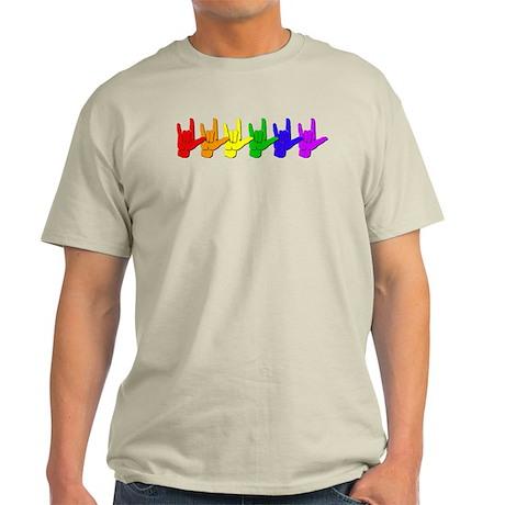 I love you - colorful Light T-Shirt