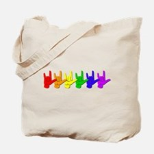 I love you - colorful Tote Bag