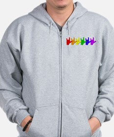 I love you - colorful Zip Hoodie