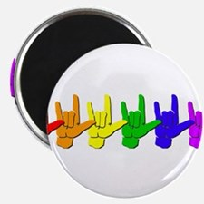 "I love you - colorful 2.25"" Magnet (10 pack)"