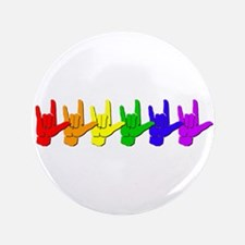 "I love you - colorful 3.5"" Button"