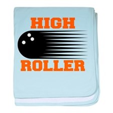 High Roller Bowling baby blanket