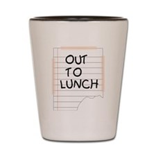 Out To Lunch Note Shot Glass