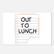 Out To Lunch Note Postcards (Package of 8)