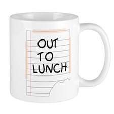 Out To Lunch Note Small Mug