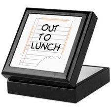 Out To Lunch Note Keepsake Box