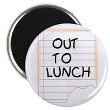 """Out To Lunch Note 2.25"""" Magnet (100 pack)"""