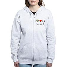 Peace - Love - Cas Zip Hoodie