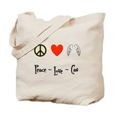 Peace - Love - Cas Tote Bag