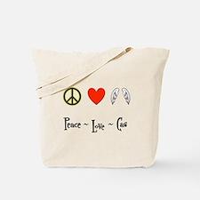 Peace - Love - Cas Tote Bag