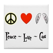 Peace - Love - Cas Tile Coaster