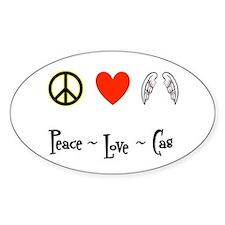 Peace - Love - Cas Decal