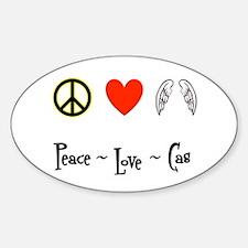 Peace - Love - Cas Sticker (Oval)