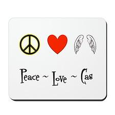 Peace - Love - Cas Mousepad