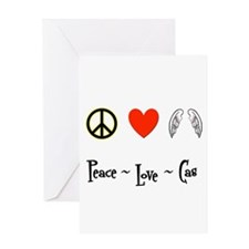 Peace - Love - Cas Greeting Card