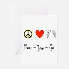 Peace - Love - Cas Greeting Card