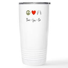 Peace - Love - Cas Travel Mug