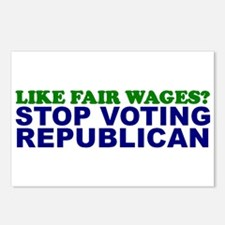 Like Fair Wages? Postcards (Package of 8)