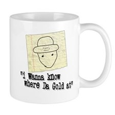 GOLD AT white Mugs