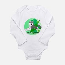 Siberian Husky Long Sleeve Infant Bodysuit