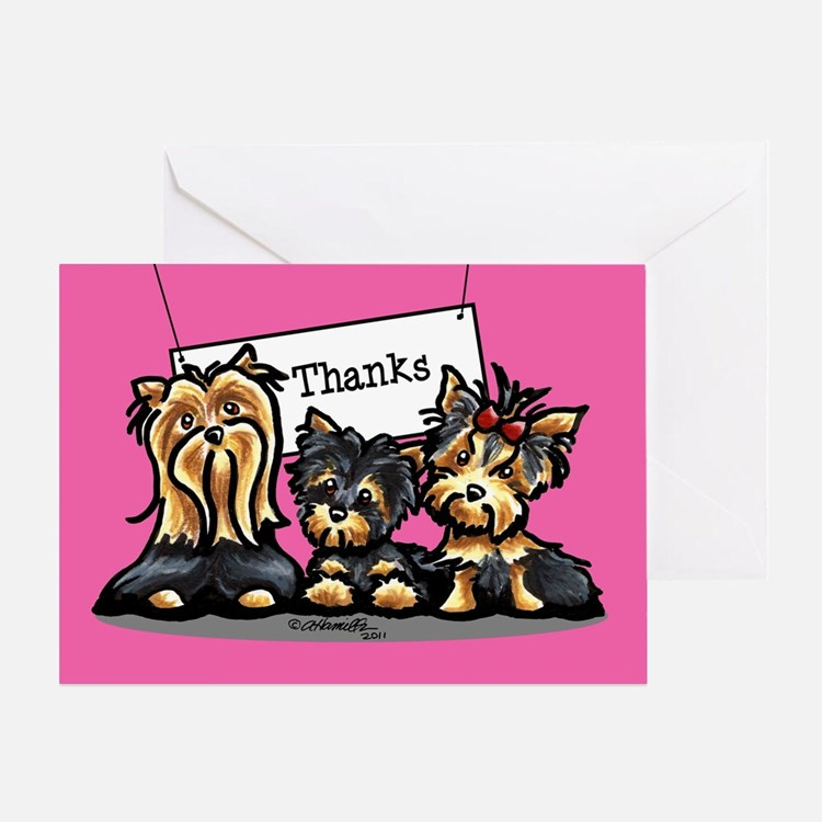 Yorkie Thank You Greeting Card