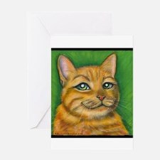 "Tabby Cat ""Dennis"" Greeting Card"