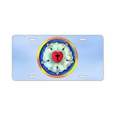 Luther Seal 3 Aluminum License Plate