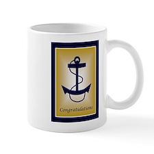 Blue &Amp; Gold Anchor Congratula Mug