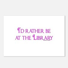I'd rather be at the Library Postcards (Package of