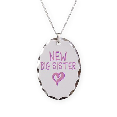 New Big Sister Necklace Oval Charm