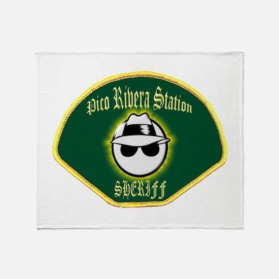 Pico Rivera Sheriff Throw Blanket