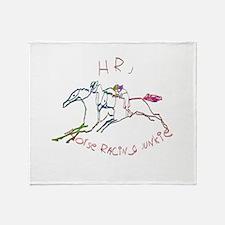 HRJ - Horse Racing Junkie Throw Blanket