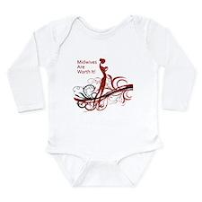 Unique Midwives Long Sleeve Infant Bodysuit