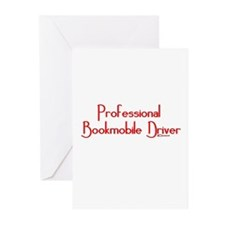 Professional Bookmobile Driver Greeting Cards (Pac