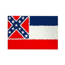 Mississippi Flag Rectangle Magnet