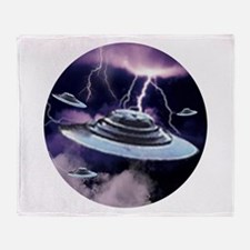 U.F.O. Storm Throw Blanket