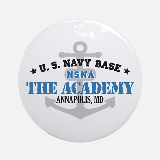 US Navy Academy Base Ornament (Round)