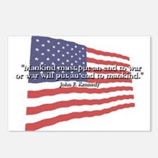 JFK: End to War Quote Postcards (Package of 8)