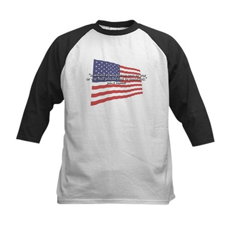JFK: End to War Quote Kids Baseball Jersey