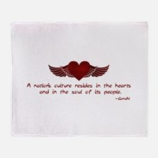 Gandhi- Heart and Soul Throw Blanket