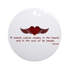 Gandhi- Heart and Soul Ornament (Round)