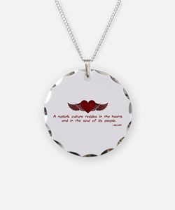 Gandhi- Heart and Soul Necklace Circle Charm