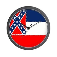 Mississippi Flag Wall Clock