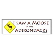 I Saw a Moose! Bumper Sticker
